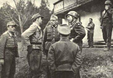 Теодор Тольсдорф во время капитуляции. Австрия. 1945 г.