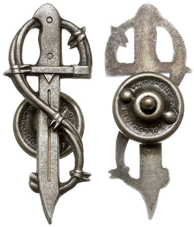 Аверс и реверс штурмового знака 3-й Карпатской пехотной дивизии.