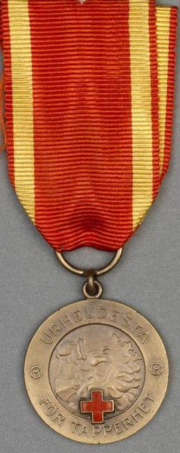 Медаль Свободы 2-го класса ордена Креста Свободы с Красным Крестом.