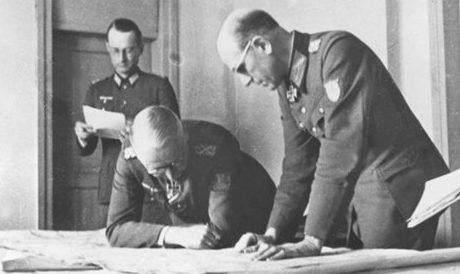Карл-Адольф Холлидт и Эрих фон Манштейн. 1942 г.