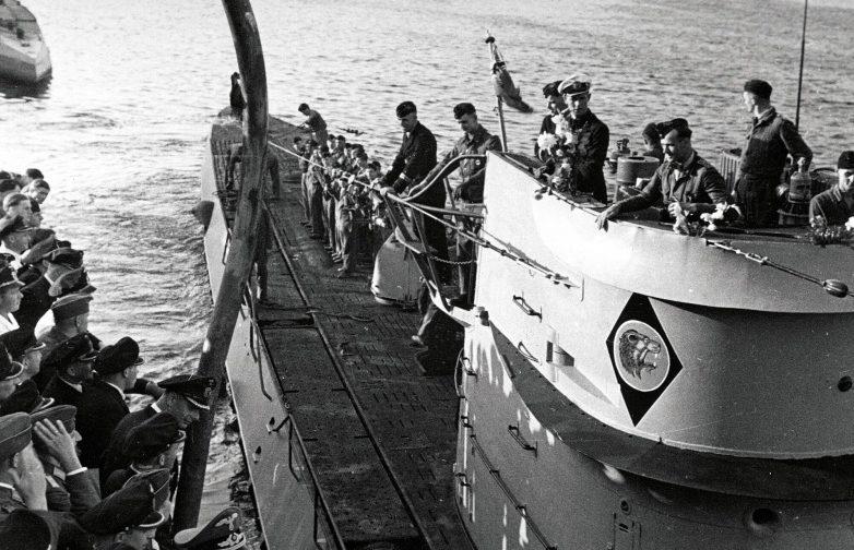 Встреча подлодки «U-66» в порту Лорьян (Франция). Сентябрь 1942 г.