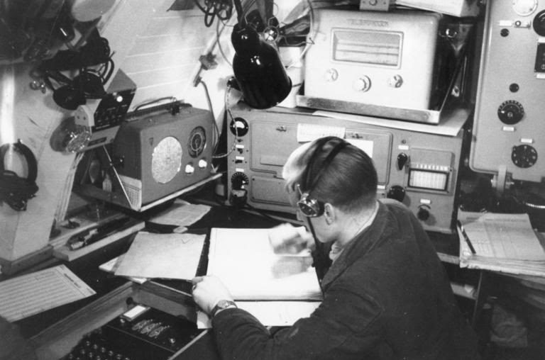 Радиорубка подлодки «U-124». Октябрь 1943 г.