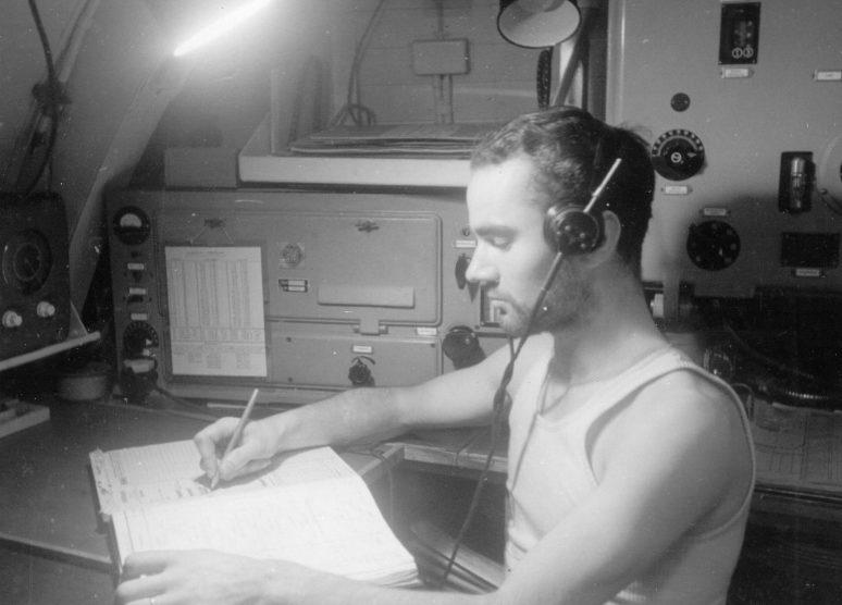 Радист подлодки «U-124» за работой. 1939 г.