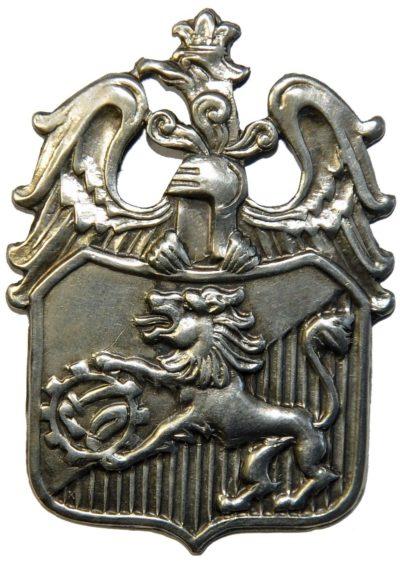 Аверс и реверс памятного знака 6-й Львовской пехотной дивизии.