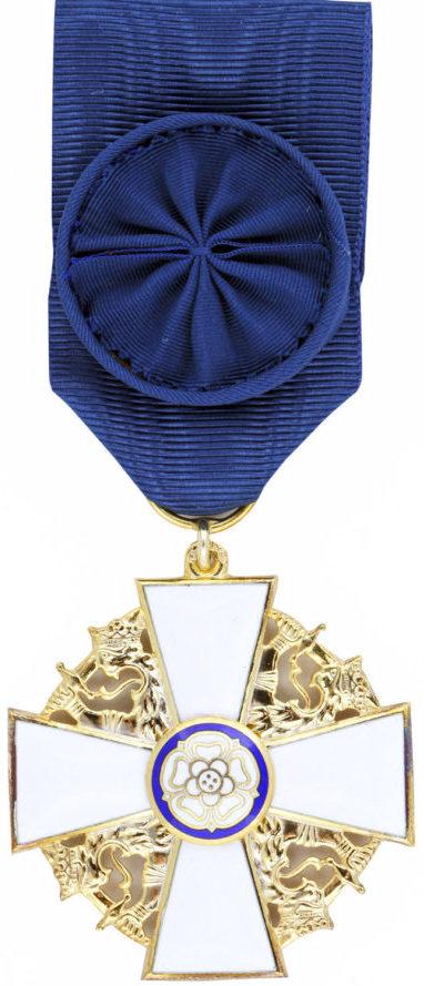 Рыцарский крест 1-го класса ордена Белой розы Финляндии.