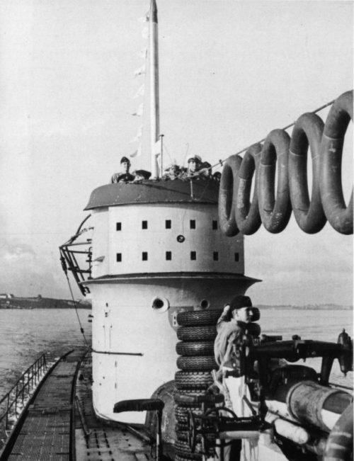 Подлодка «U-156» в гавани французского порта Лорьян. Ноябрь 1942 г.