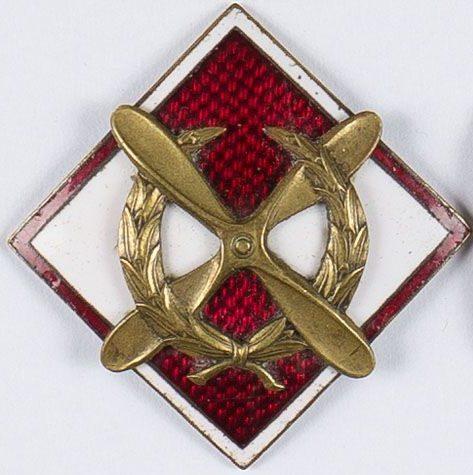 Аверс и реверс памятного знака школы унтер-офицеров авиации.