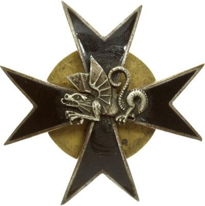 Аверс и реверс памятного знака 10-го танкового батальона.