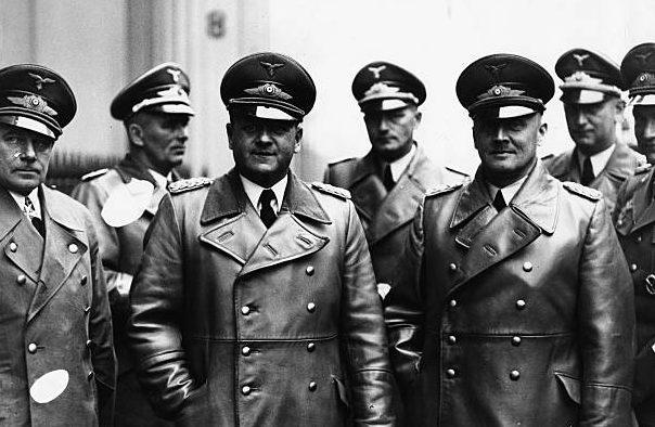 Эрнст Удет, Ральф Веннингер, Ганс Штумпф и Эрхард Мильх. 1937 г.
