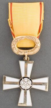 Крест 2-го класса ордена Креста Свободы за гражданские заслуги.