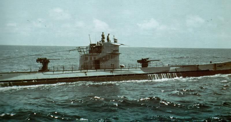 Подлодки «U-160» в море. Октябрь 1942 г.