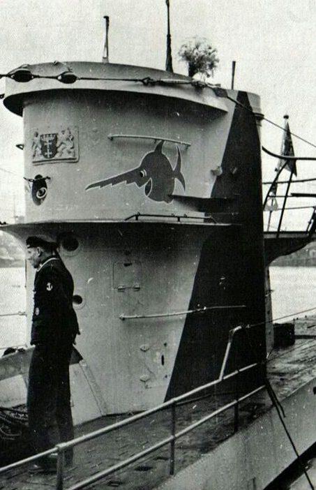 Подлодка «U-96» на рейде. 1939 г.