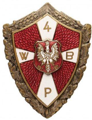 Аверс и реверс памятного знака 4-й Волынской пехотной бригады 2-го польского корпуса.
