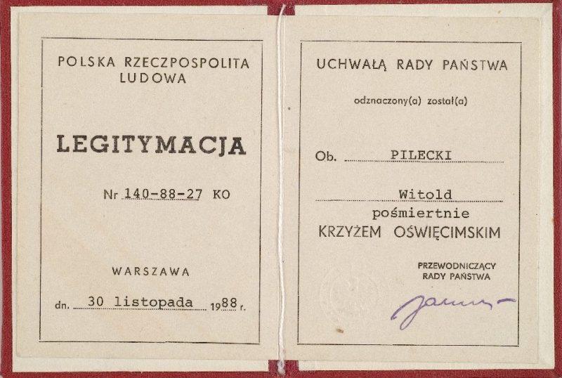 Удостоверение о награждении Крестом Узников фашистских лагерей.