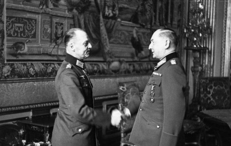 Герд фон Рунштедт и Эрвин Эрдман фон Вицлебн. 1941 г.