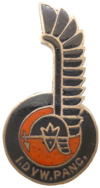 Аверс и реверс памятного знака 1-й танковой дивизии.