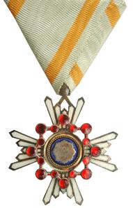 Орден Священного сокровища 5-й степени.