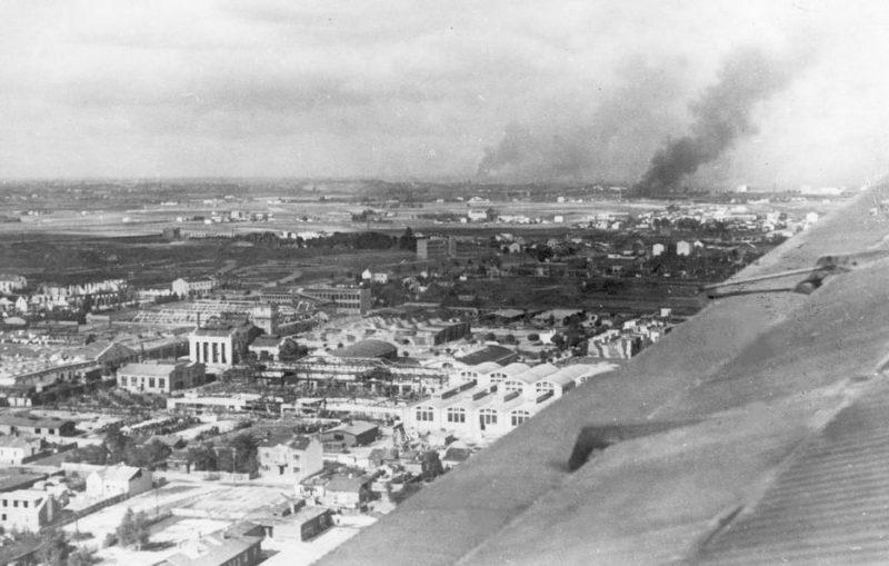 Аэрофотосъемка Варшавы после капитуляции. 29 сентября 1939 г.