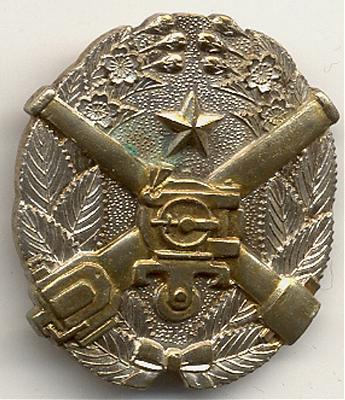 «Знак за стрельбу из скорострельного пехотного орудия» 1-й степени.