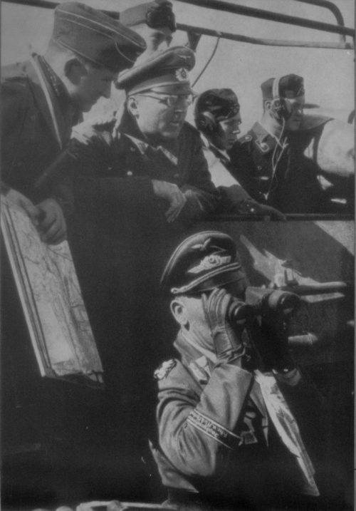 Ганс-Валентин Хубе в командирском бронетранспортере под Сталинградом. 1942 г.