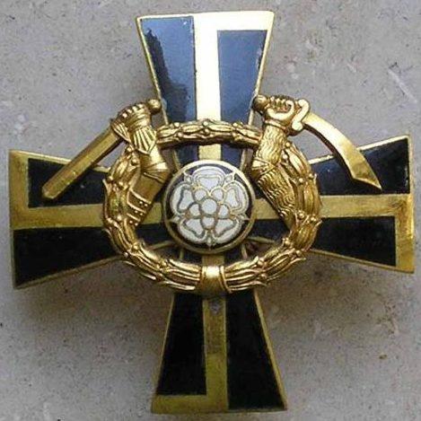 Аверс и реверс креста Маннергейма 2-го класса.