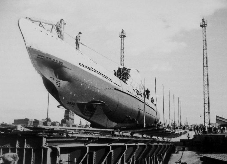 Подлодка «U-31» на стапеле во французском порту Лорьян. Октябрь 1940 г.