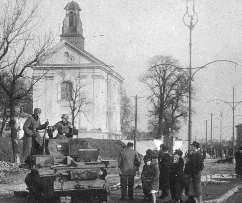Немецкий патруль. Ноябрь 1939 г.