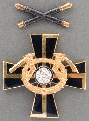 Крест Маннергейма 2-го класса с маршальскими жезлами за повторное награждение.