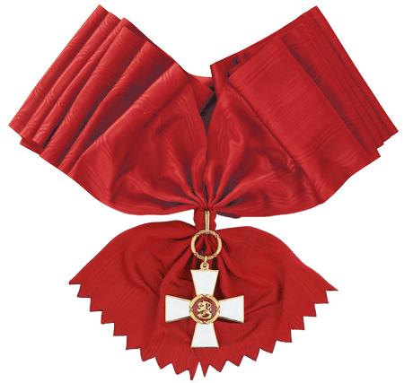 Большой Крест ордена Льва Финляндии с лентой для мужчин.