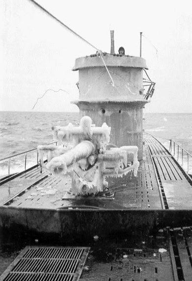 Подлодка «U-106» в Северном море. Январь 1943 г.