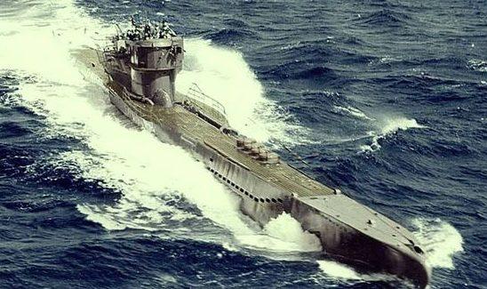 Подлодка «U-278» в море. Январь 1943 г.