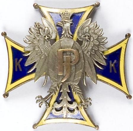 Аверс и реверс памятный знак кадетского корпуса им. Юзефа Пилсудского.