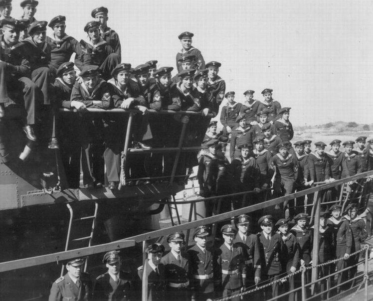 Экипаж подлодки «U-107». 1940 г.