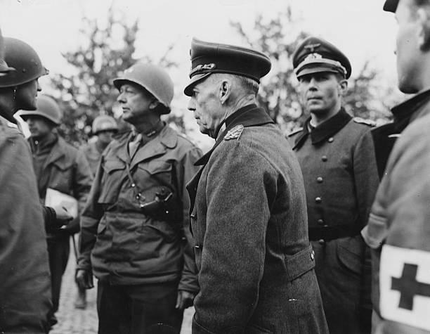 Герд фон Рунштедт в плену. Бавария.1945 г.