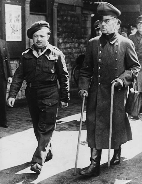 Герд фон Рунштедт во время Нюрнбергского процесса. 1945 г.