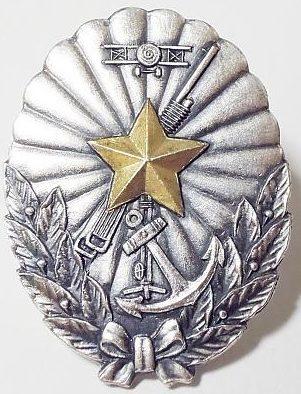 Аверс и реверс памятного знака о больших манёвра ПВО Канто в 1933 г.
