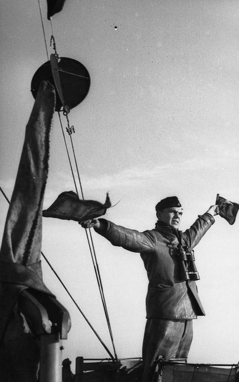 На мостике подлодки «U-129». Январь 1941 г.