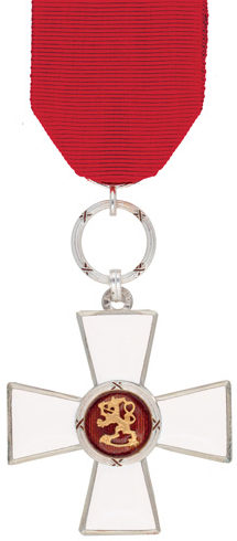 Рыцарский Крест ордена Льва Финляндии.