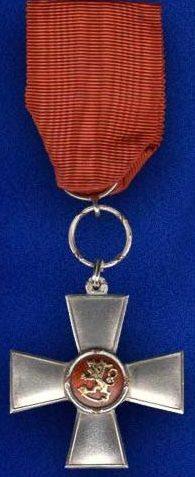 Крест Заслуг ордена Льва Финляндии.
