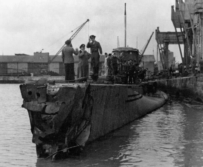 Возвращение поврежденной подлодки «U-119». Апрель 1943 г.