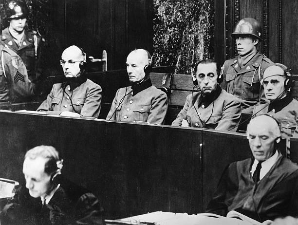Германн Ферч на Нюрнбергском процессе. 1947 г.
