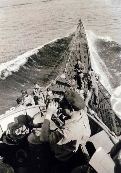 Подлодка «U-100» в море. Март 1941 г.