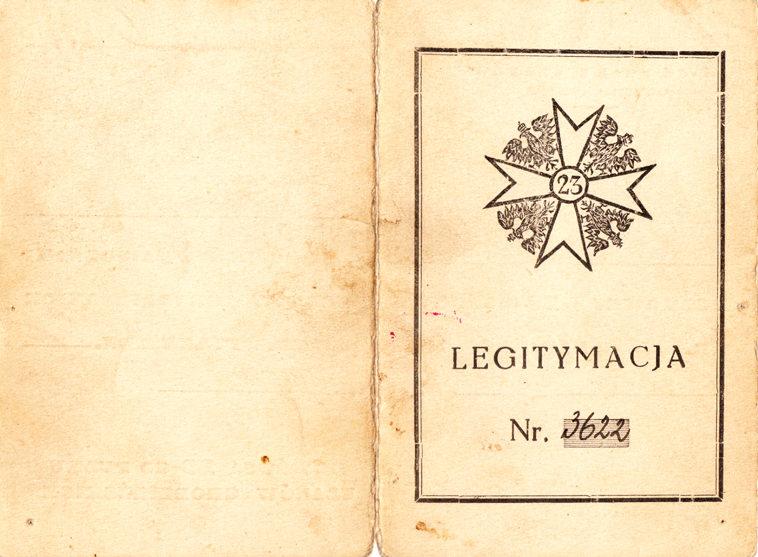 Удостоверение о вручении памятного полкового знака 23-го Гродненского уланского полка.