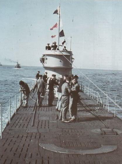 Подлодка «U-128» на ходовых испытаниях. Май 1941 г.