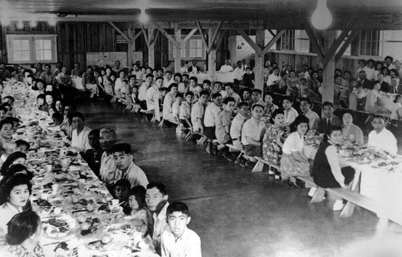 Столовая. Лагерь «Tule Lake» (Калифорния). Сентябрь 1942 г.