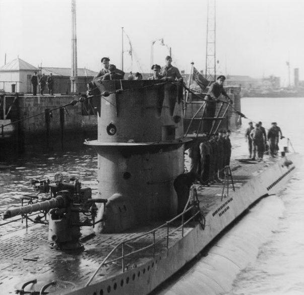 Прибытие подлодки «U-71» на базу. Сент-Назер. Июль 1941 г.
