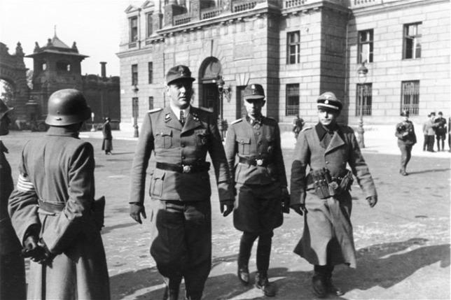 Отто Скорцени в Будапеште. 1944 г.