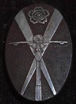 Аверс и реверс памятного знака участнику манёвров ПВО в Ханшине в 1935 г.
