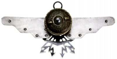 Аверс и реверс знака морского авиационного наблюдателя.