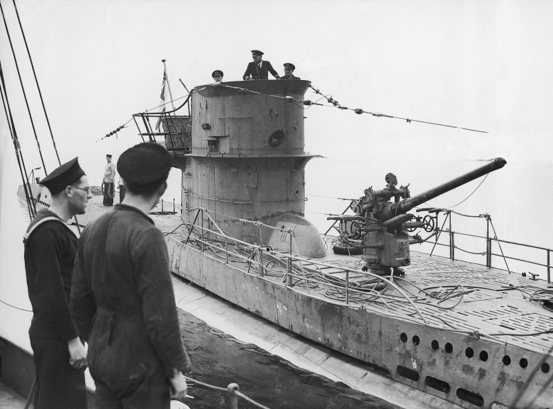 Захваченная британцами подлодка «U-570». Октябрь 1941 г.